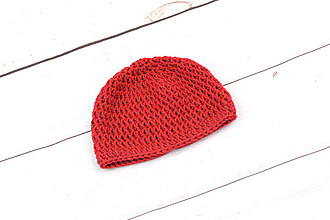 Detské čiapky - Červená čiapka EXTRA FINE - 10018786_