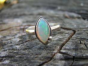 Prstene - Strieborny prsteň Ag 925 Etiopsky Opál - 10016996_