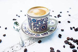 Nádoby - Keramický hrnček - Malka (Modrá) - 10017079_