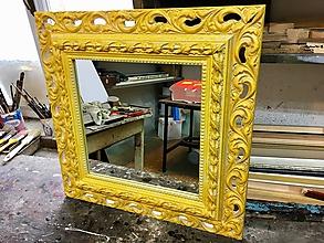 Zrkadlá - Štýlové žlté zrkadlo - ZĽAVA - 10019715_