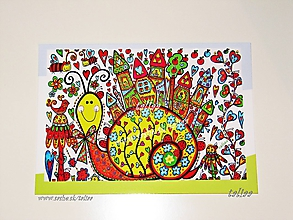 Papiernictvo - SLIMÁK - klasická pohľadnica - 10016928_