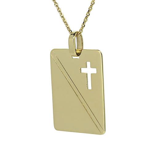 16f04c26b Zlatá platnička s krížikom na retiazke / GoldHands - SAShE.sk ...