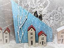 Dekorácie - dekorácia ...zimná dedinka.. - 10018691_
