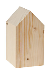 - Drevený domček, 8 x 8 x 15 cm, prírodný  - 10018479_