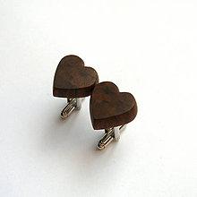 Šperky - Orechové srdiečka - 10019764_