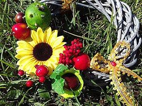Dekorácie - Jesenný veniec (Jesenné plody) - 10024566_