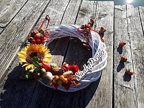 Dekorácie - Jesenný veniec (Sladký domov) - 10024584_
