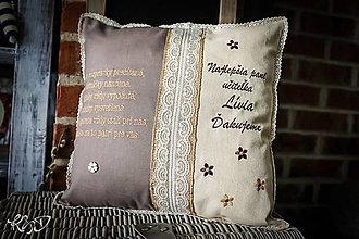 Úžitkový textil - Vankúšik pre najlepšiu pani učiteľku No.15 - 10024504_