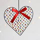 Dekorácie - srdiečko ♥ srdce (pestrofarebné) - 10022706_