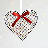 Dekorácie - srdiečko ♥ srdce (pestrofarebné) - 10022707_