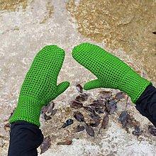 Rukavice - Zelené palčiaky - 10023809_