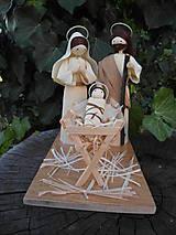 Dekorácie - Betlehem - sv. rodina - zo šúpolia - 10022410_