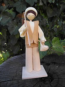 Dekorácie - Šúpolienka - chlapec s cepmi - 10022171_