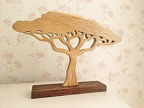 Dekorácie - Vyrezávaný dubový stromček baobab - 10024713_