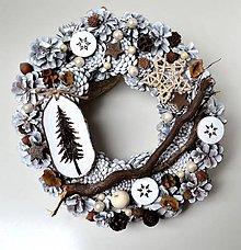 Dekorácie - Vianočný veniec - 10021108_