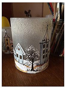 Svietidlá a sviečky - Zimný svietnik- rôzne druhy - 10023528_