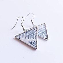 Náušnice - Náušnice triangle kapradí - 10021357_