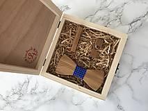 Doplnky - Drevený motýlik , darčekový set - 10024426_