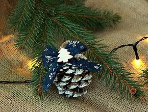 Dekorácie - modrotlač_ vianočné ozdoby - 10024311_