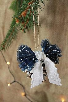 Dekorácie - modrotlač šišky_ vianočné ozdoby - 10024480_