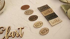 Drobnosti - Koženkové štítky 15+15ks - 10021080_