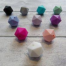 Korálky - Silikónová korálka mnohouholník 1ks - 10021749_
