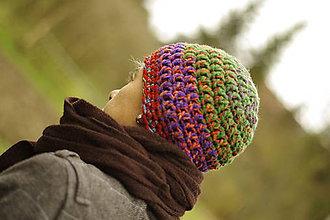 Čiapky - farebnica farebná šalená:) čiapka akurátka - 10020947_