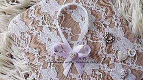 Darčeky pre svadobčanov - Stužky na fľaše - bledá fialová - 10022276_