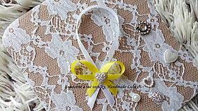 Darčeky pre svadobčanov - Stužky na fľaše - žltá - 10022308_