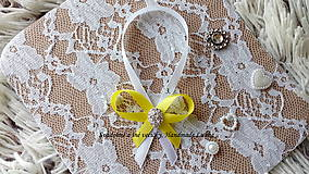 Darčeky pre svadobčanov - Stužky na fľaše - žltá - 10022309_