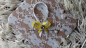 Darčeky pre svadobčanov - Stužky na fľaše - žltá - 10022310_
