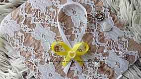 Darčeky pre svadobčanov - Stužky na fľaše - žltá - 10022321_