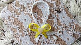 Darčeky pre svadobčanov - Stužky na fľaše - žltá - 10022323_