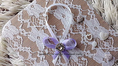 Darčeky pre svadobčanov - Stužky na fľaše - pastelová fialová - 10022261_