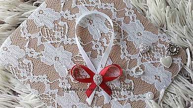 Darčeky pre svadobčanov - Stužky na fľaše - červená - 10022390_