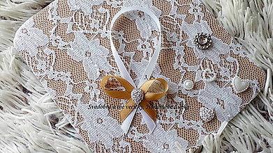 Darčeky pre svadobčanov - Stužky na fľaše - zlatá - 10022453_