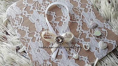 Darčeky pre svadobčanov - Stužky na fľaše - smotanová - 10022510_