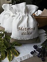 Úžitkový textil - Ľanové vrecúška na bylinky, huby, sušené ovocie..... - 10021352_