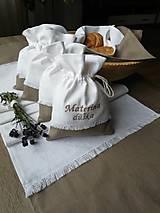Úžitkový textil - Ľanové vrecúška na bylinky, huby, sušené ovocie..... - 10021355_
