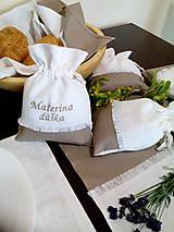 Úžitkový textil - Ľanové vrecúška na bylinky, huby, sušené ovocie..... - 10021403_