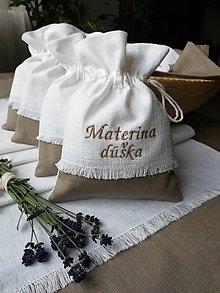 Úžitkový textil - Ľanové vrecúška na bylinky, huby, sušené ovocie..... - 10021351_
