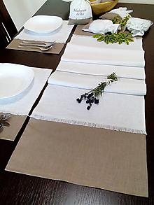 Úžitkový textil - Ľanová štóla - 10021407_