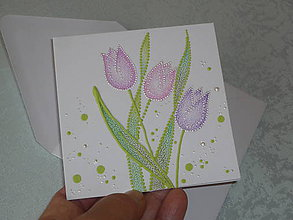 Papiernictvo - Pohľadnica  - tulipány - 10020633_