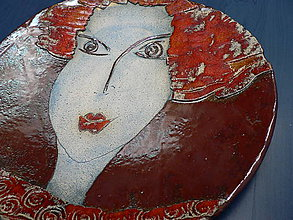 Nádoby - Keramická mísa, Žena - 10023648_