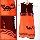 044c1e26ac9f Detské oblečenie - Oranžové dětské šaty s kočičkou v indiánském stylu -  10021804