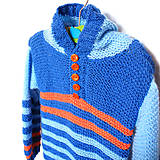 f9e524f7206e Detské oblečenie - Dětský pruhovaný svetr s kapucí - 10022097
