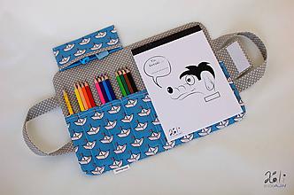 Detské tašky - Detský kufrík - pastelkovník Lodičky (grey) - 10024193_