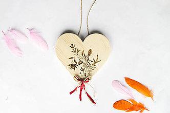 Dekorácie - Srdce na dvere - Domov plný kvetov - 10022084_