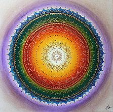 Obrazy - Čakrová mandalka ZDRAVIA 50 x 50 - 10021920_