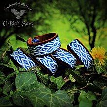 Náramky - Karetkový náramok Slovan, modrý, koža - 10021441_